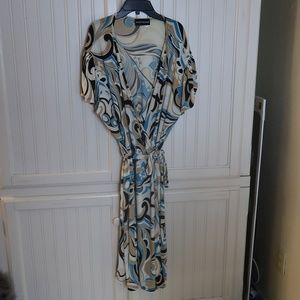 MARIANNE BLUE And Brown Dress Plus Size 3x